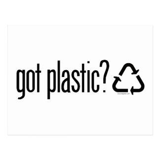 got plastic? Recycling Sign Postcard