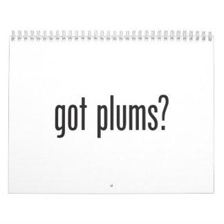 got plums wall calendar