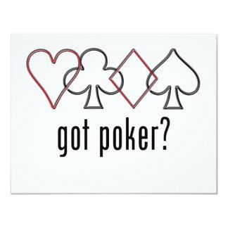 got poker? 4.25x5.5 paper invitation card