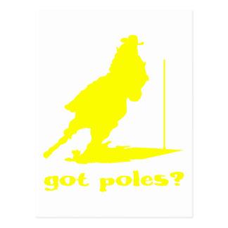 GOT POLES POSTCARD