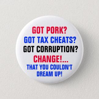 Got PORK? Got TAX CHEATS?Got CORRUPTION? Button