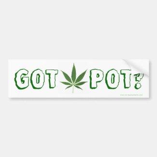 Got Pot? Bumper Sticker