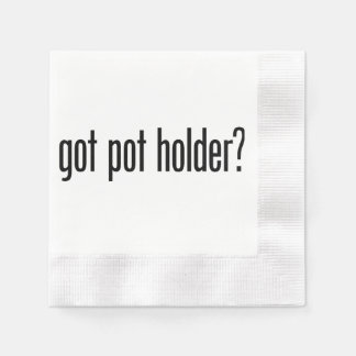 got pot holder coined cocktail napkin