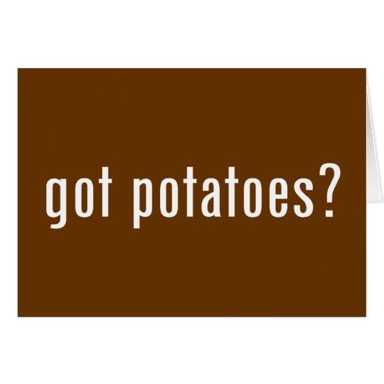 got potatoes? card