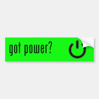 got power? bumper sticker