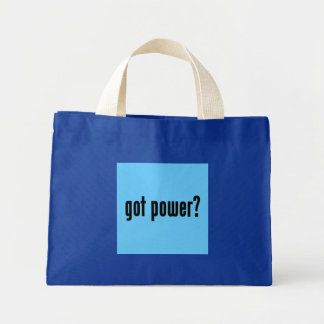 got power? mini tote bag