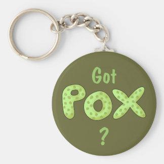Got Pox? Fun Pirate Phrase Basic Round Button Keychain