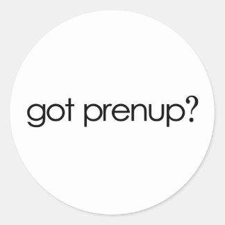 Got Prenup? Classic Round Sticker