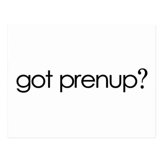 Got Prenup? Postcard