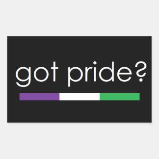Got Pride? Genderqueer pride sticker