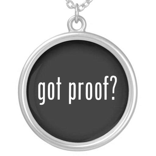 got proof? necklace