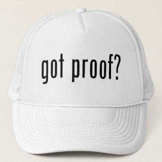 got proof? trucker hat