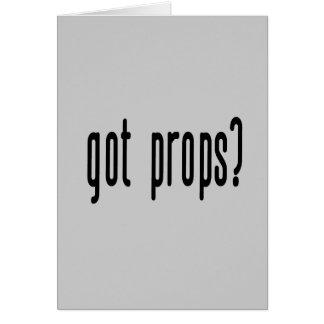 Got Props? Cards