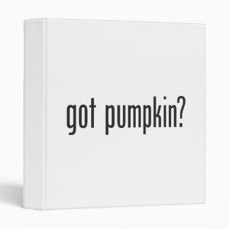 got pumpkin vinyl binder