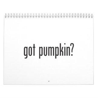 got pumpkin calendar