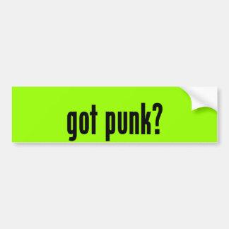 got punk? bumper sticker