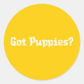 Got Puppies Gifts Round Sticker