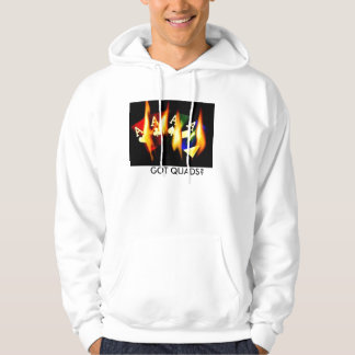 GOT QUADS FLAMING ACES by Teo Hoodie