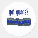 Got Quads? Round Stickers