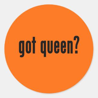 got queen? classic round sticker