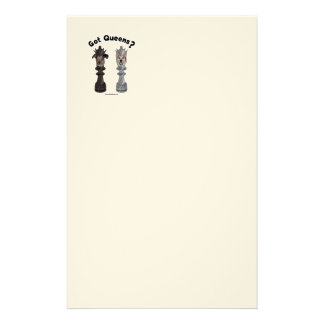 Got Queens Chess Dogs Customized Stationery