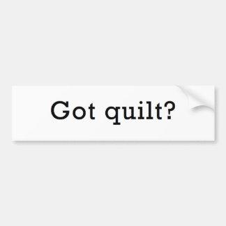 Got Quilt? Bumper Sticker
