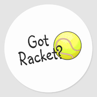 Got Racket? (Tennis Ball) Classic Round Sticker
