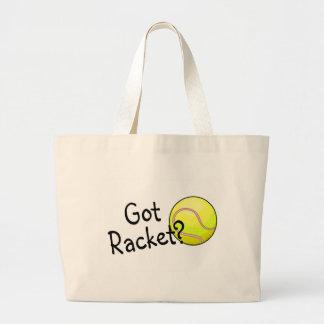 Got Racket? (Tennis Ball) Large Tote Bag