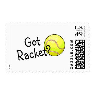 Got Racket? (Tennis Ball) Postage Stamp