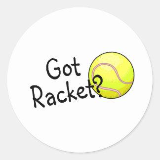 Got Racket? (Tennis Ball) Round Stickers