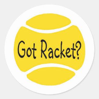 Got Racket Tennis Classic Round Sticker
