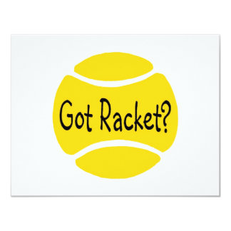 Got Racket Tennis Custom Invitations