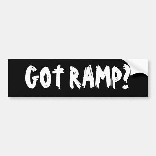 Got Ramp? Bumper Sticker