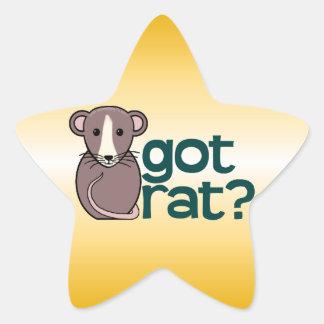 Got Rat? Star Sticker