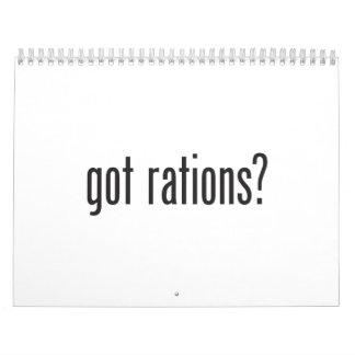 got rations wall calendar