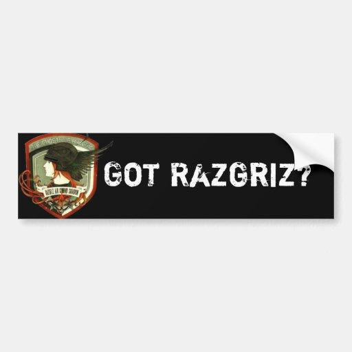 Got Razgriz? Car Bumper Sticker