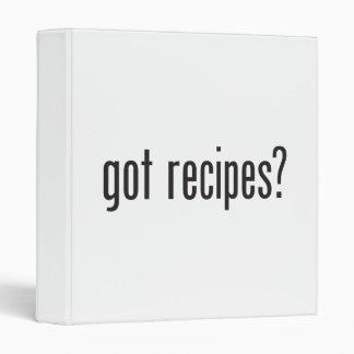 got recipes vinyl binder