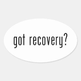 Got recovery? oval sticker