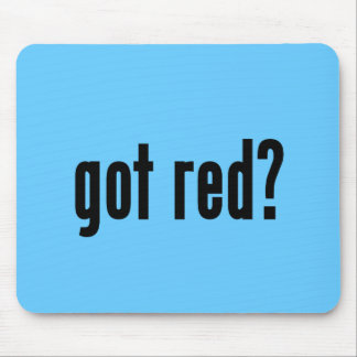 got red? mouse pad