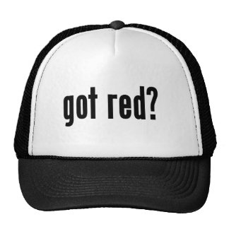 got red? trucker hat