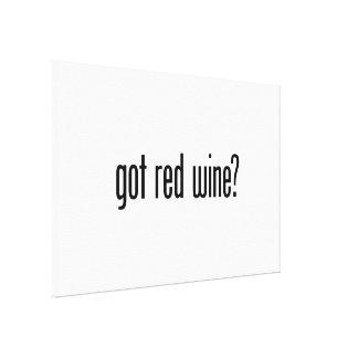 got red wine canvas print