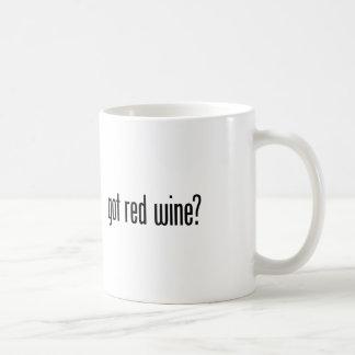 got red wine coffee mug