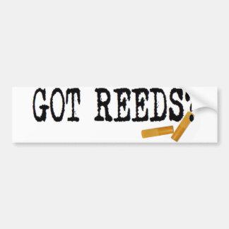 Got Reeds? Car Bumper Sticker