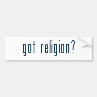 got religion bumper sticker