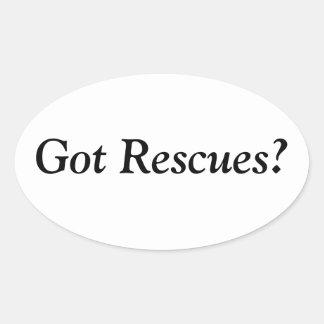 Got Rescues? Oval Sticker