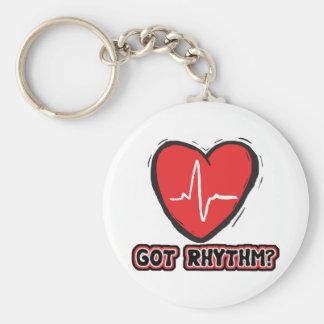 Got Rhythm Basic Round Button Keychain