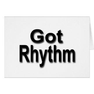 Got Rhythm Card