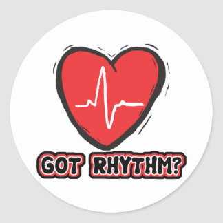 Got Rhythm Classic Round Sticker