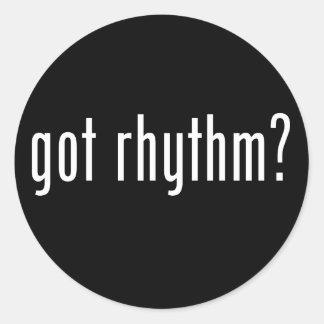 Got Rhythm? Classic Round Sticker