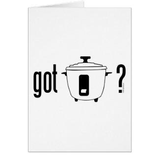 Got Rice? (cooker) Card